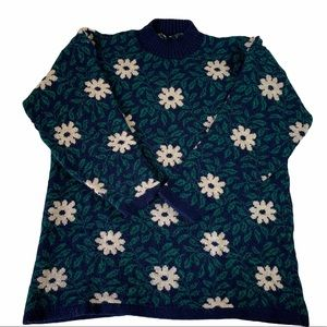 Vintage Daisy Sweater   60's Inspired
